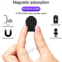 STTWUNAKE Mini nascosta Audio Voice Recorder 600 ore di registrazione Magnetica professionale HD Digitale Dittafono denoise a lunga distanza