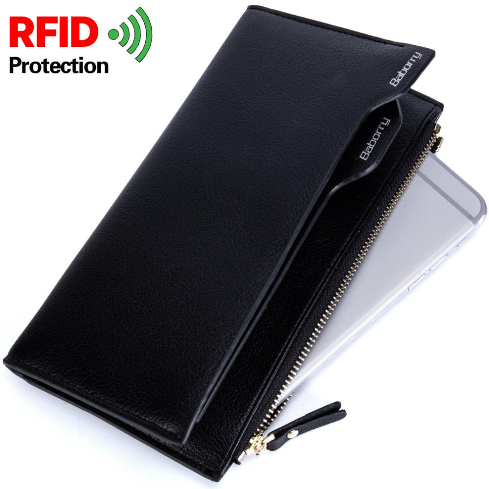 Wallets for Men Rfid Blocking Coin Bag Zipper Men Wallets Mens Purse Male Money Purses Wallets Luxury Slim Men Long Wallet men wallets 100