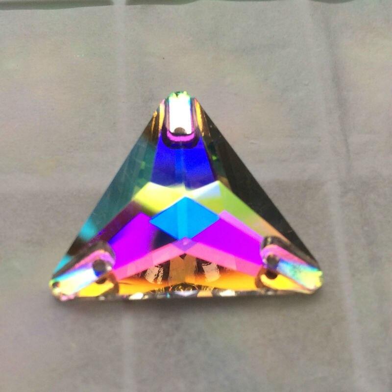 Topp 3270 Triangle 16mm 22mm Crystal AB Sy på stenglas Rynstenar - Konst, hantverk och sömnad - Foto 6