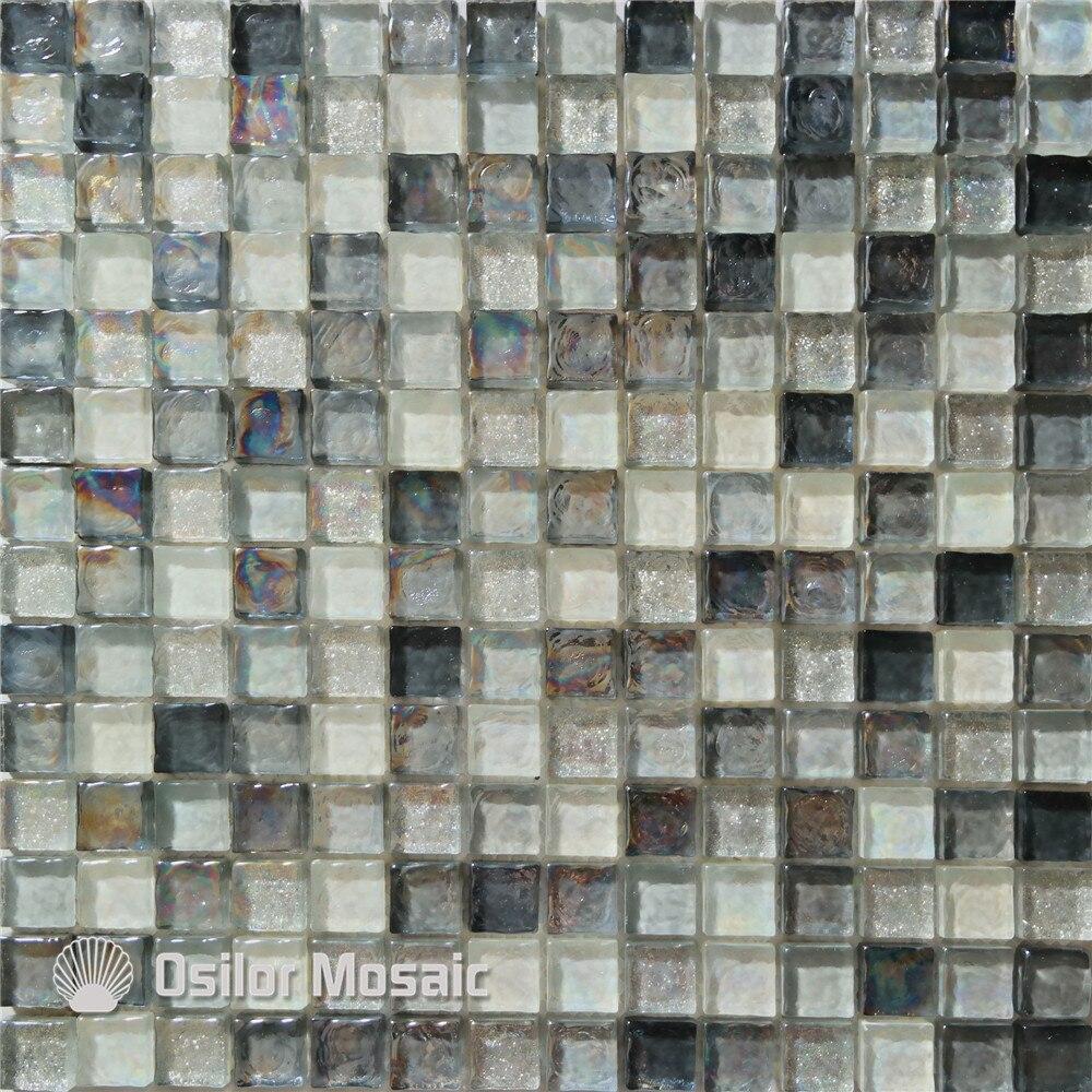 Acquista all'ingrosso online piastrella a mosaico in vetro bianco ...