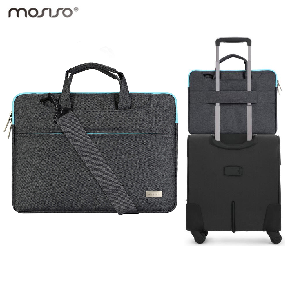 Mosiso for Macbook Air Pro HP Dell Acer 11.6 13.3 15.6 inch Messenger Bag Men Women Carrying Case Back Belt for Trolley Travel