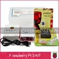 F Raspberry pi 3*1 + 16G tarjeta SD * 1 + shell Original * 1 + de LA UE cable de alimentación * 1 + disipador de calor * 3 + caso para raspberry pi kit 3*1 envío gratis