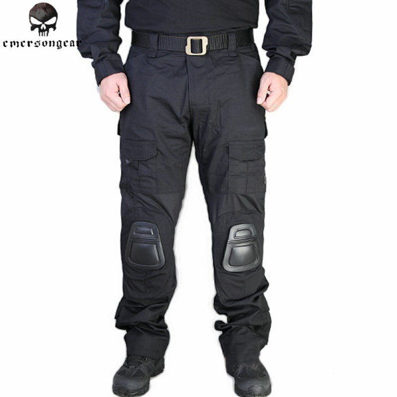 ФОТО Emerson Tactics G2 Pants with Knee Pads Combat Tactical Airsoft Pants Urban Mens Military Combat Assault Airsoft Trousers BD7038