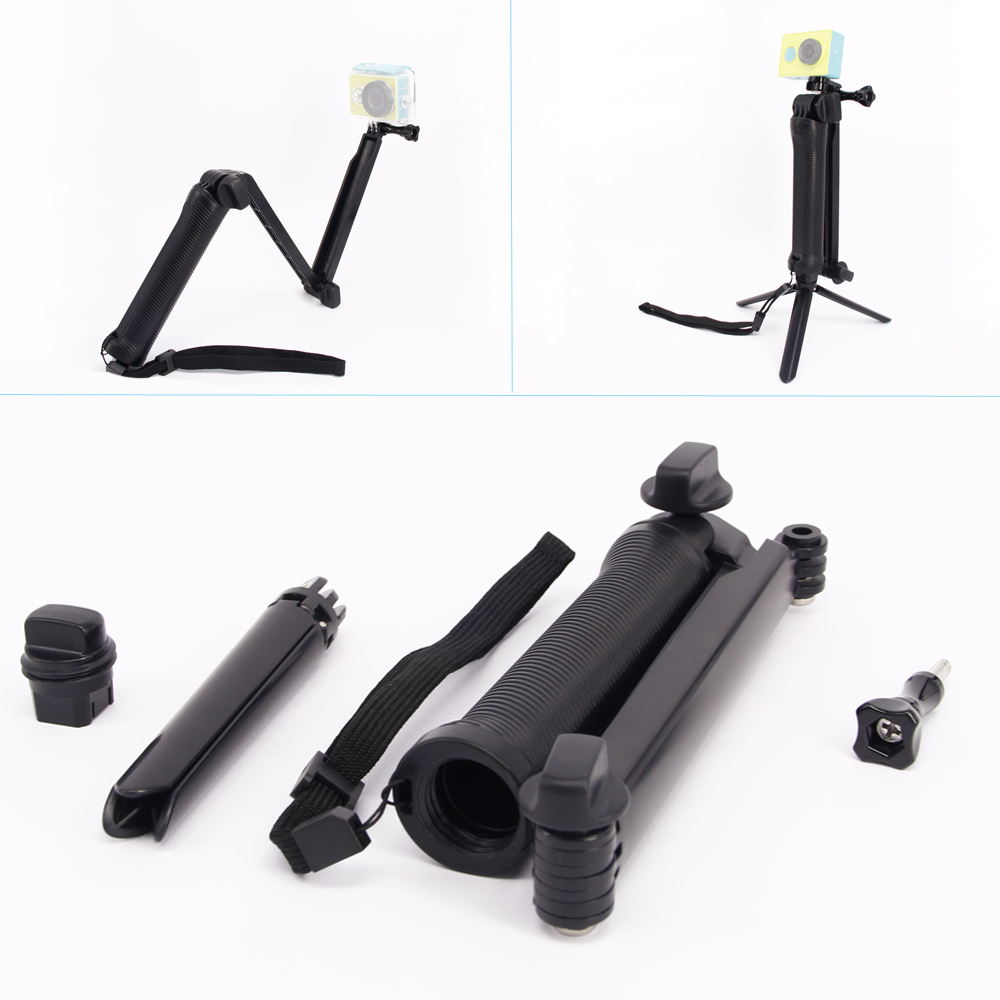 ZJM Xiao yi Accessories For 3-way Folding Monopod Mount With Stand Strap Of Xiao yi XiaoYi Camera