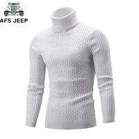 Мода 2018 г. осень зима для мужчин s свитеры для женщин Повседневное мужской водолазка человека сплошной трикотаж тонкий пуловер свитер М