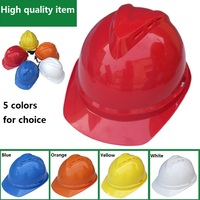 Breathable hitting proof safety helmets Construction site safety helmet V shape engineering protective helmet
