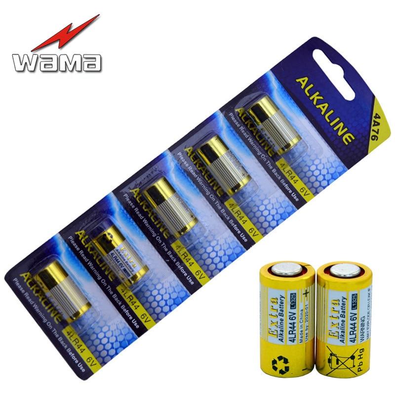 100pcs/20pack Wama 4LR44 <font><b>6V</b></font> Dry Alkaline <font><b>Batteries</b></font> Cells Car Remote Toys Calculator 4AG13 L1325 <font><b>4A76</b></font> <font><b>Battery</b></font> Drop Ship New