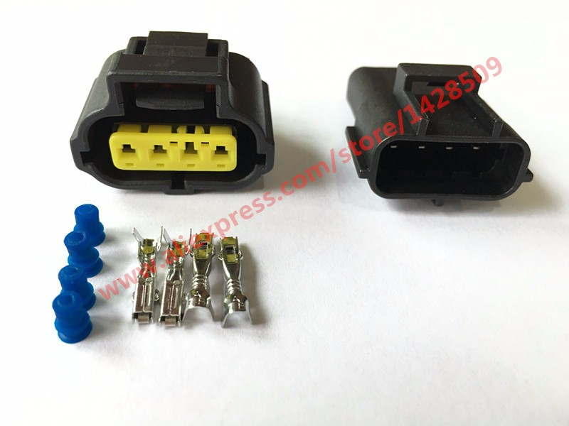 AMP Tyco 4 Pin Throttle Sensor Plug 1JZ-GTE 2JZ-GTE 1UZ 3SGE TPS Wire Connector Female Male For Toyota 178399-2 184046-1 30 sets superseal amp tyco 1 5 kit 1 2 3 4 5 6 pin female male waterproof electrical wire cable automotive connector car plug