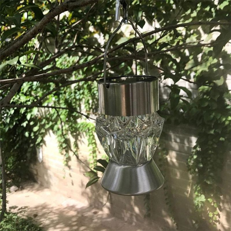 Solar LED Tree hanging Light Color Chaging Diamond Outdoor Lamp Rotatable Chandelier in Solar Lamps from Lights Lighting