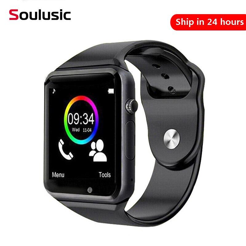 Soulusic A1 Bluetooth Smartwatch Pedômetro Esporte Com Câmera SIM Smartwatch para Android iPhone Melhor Do Que iwo8 relógio de Pulso