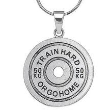 Вес s& Фитнес ожерелье с гантелями поезд жесткий или Gohome фитнес тяжелая атлетика кулон бодибилдинг спортивные мужские ожерелья