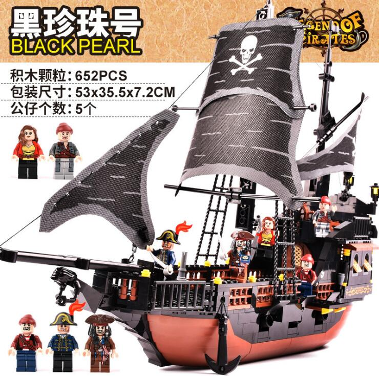 New Arrival GUDI 9115 Pirates of the Caribbean Series Black Pearl Jack Sparrow Figure Building Block Toys Bricks For Gift new science fiction movies avatar pirates of the caribbean jack tv supernatural mens wallets female purse cards coin zip bolsa