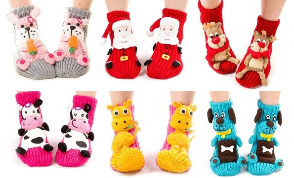 2014-Christmas-gift-women-cartoon-winter-adult-floor-Santa-sock-wool-thickening-slip-resistant-thermal-socks (3)