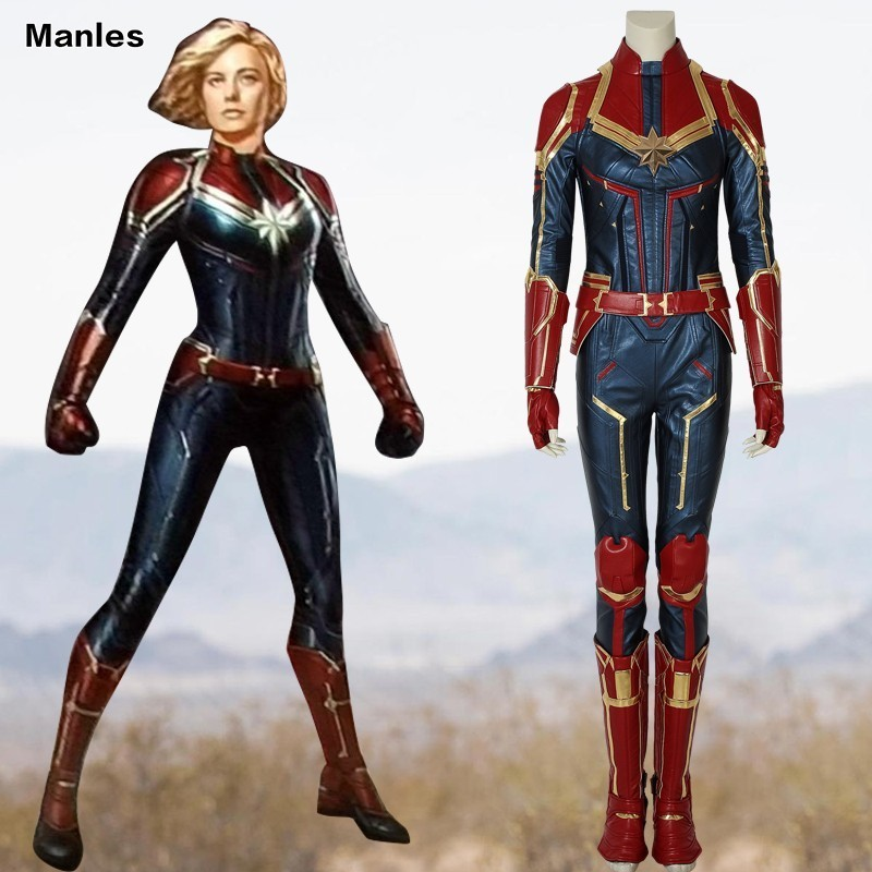 Captain Marvel Cosplay Ms Marvel Carol Danvers Costume -6946