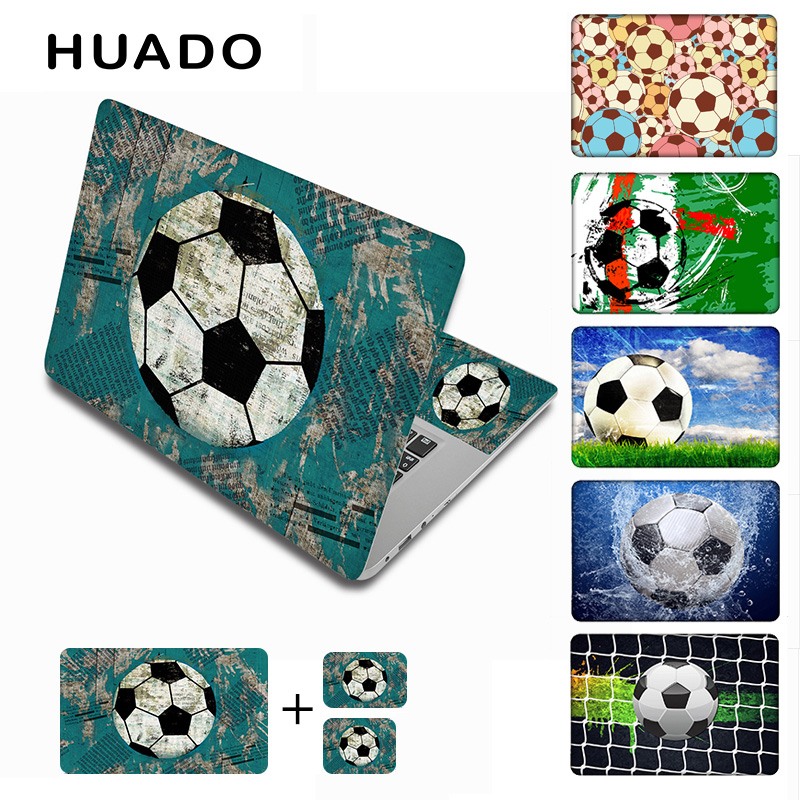 Football vinyl stickers 15.6 laptop skin for 15 17 14 13 notebook stickers cover decals for xiaomi pro 13.3/hp/lenovo/asus