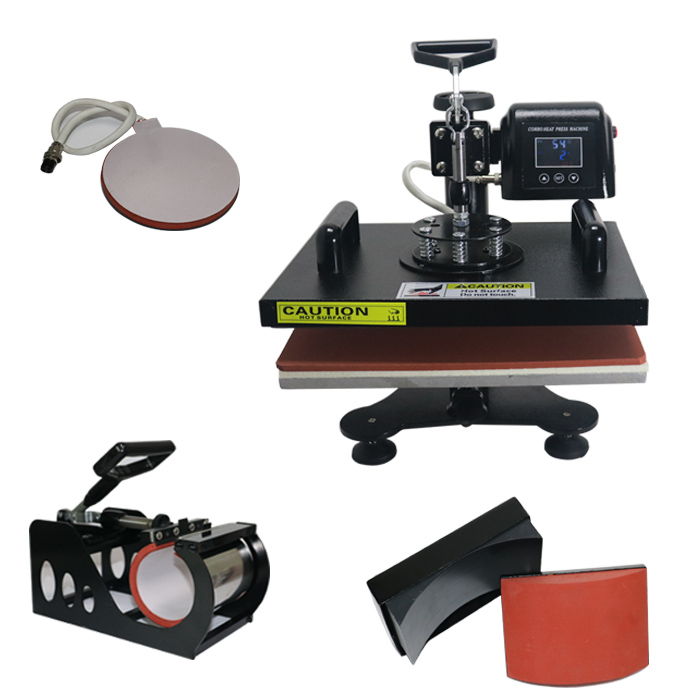 ToAuto 4in1 T-Shirt Mug Caps Plate Heat Press Machine 1.2KW Digital Transfer Sublimation Printing Marking Embossing Mmachine CE new design single display 7 in 1 heat press machine mug cap plate tshirt heat press sublimation machine heat transfer machine