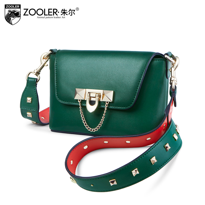 2018 new ZOOLER WOMAN leather shoulder bag designed genuine leather bag messenger cross body bag for lady bolsa feminina-B213 zooler 2018 luxury genuine leather bag for woman chain shoulder bag designer woman fashion cross body bags bolsa feminina bc100