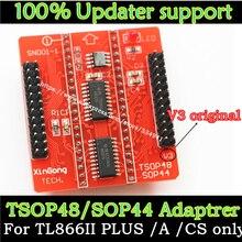 Adaptador de soquete universal v3, adaptador de base sop44 tsop48 para programador universal minipro tl866 tl866cs tl866a tl866ii plus