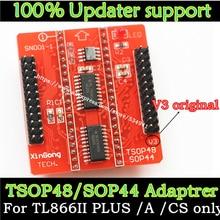 Originele V3 base Adapters SOP44 TSOP48 adapter socket voor Minipro TL866 TL866CS TL866A TL866II Plus Universele Programmeur