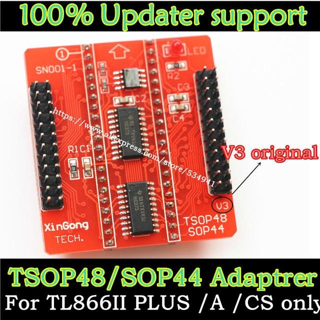 מקורי V3 בסיס מתאמי SOP44 TSOP48 מתאם שקע עבור Minipro TL866 TL866CS TL866A TL866II בתוספת אוניברסלי מתכנת