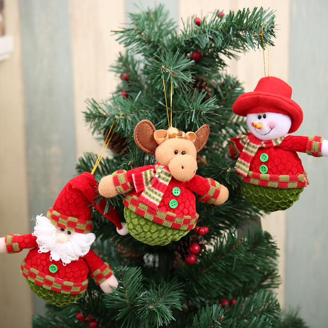 6pcs Round Bottom Christmas Tree Decorations Xmas Hanging Ornament ...