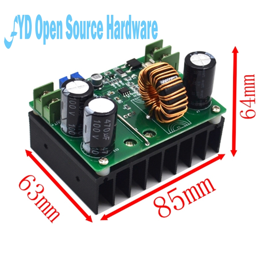 600w Aluminum Plate Dc Boost Converter Adjustable 10a Step Up Stepup Dcdc In This Circuit Used Ic Tda2822m Which Is Dual 10v 60v To 12v 80v
