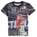 Fashion 3D Printed T-shirts Short Sleeve Shirts LeBron James Shooting Graphic Tees O-Neck Comfortable Summer Tops