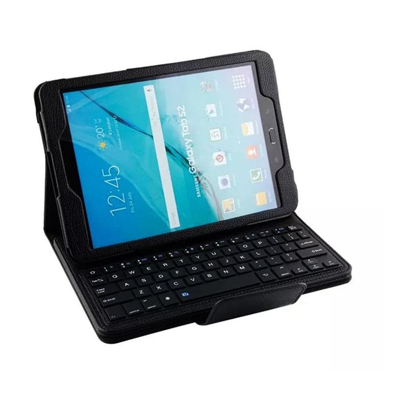 BGEKTOTH Black  Wireless Bluetooth Keyboard Folding Folio Cover Box For Samsung Galaxy Tab S2 9.7 T810 T815 аксессуар защитное стекло samsung galaxy a3 2017 solomon full cover black