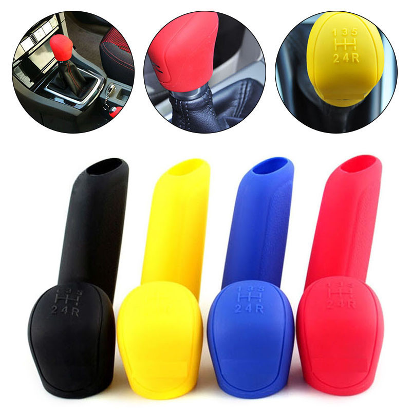 Gear-Shift-Knob-Cover Hand-Brake Silicone Car-Acceossories Universal For 2pcs/Set