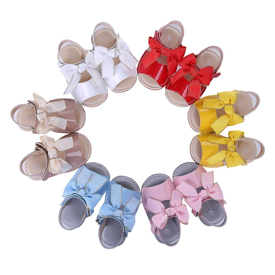 Image 2 - Pettigirl Summer Baby Girls Sandals Shoes Soft Microfiber Leather Bowknot Beach Kids Shoes US Size (Without Shoe Box)baby girls sandals shoesgirl sandal shoessummer baby girls sandals -