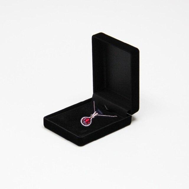 Offre spéciale noir velours mariée mariage mariée bijoux collier pendentif boîte cadeau Colar boucles doreilles bibelot présentoir organisateur