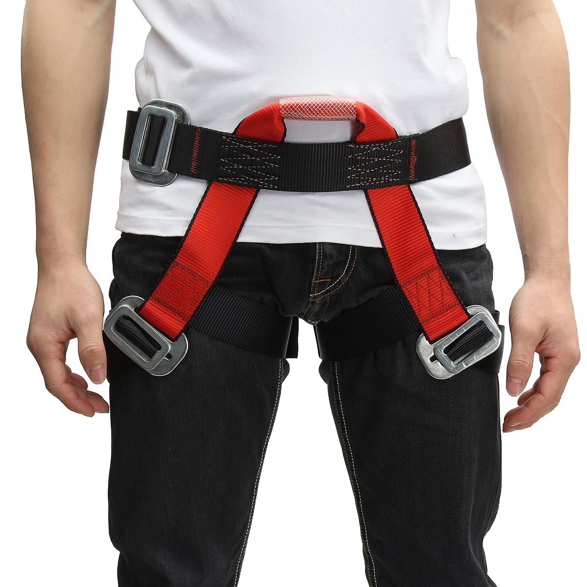 Outdoor Climbing Safety Belt Half Body Protecting for Rock Climbing Downhill Harness Rappel Safety Belt climbing accessories