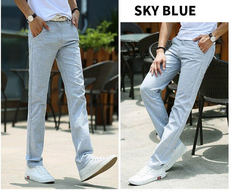 HCXY Brand 2019 Summer high quality Men's Linen Pants man Casual thin trousers Men pantalones male pants Plus size 38