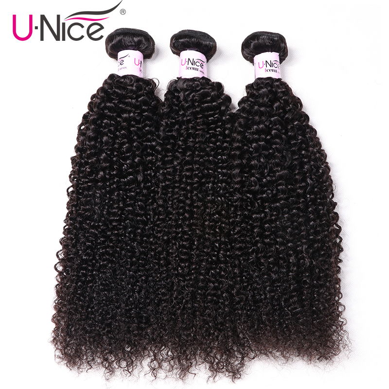 UNice Hair Brazilian Kinky Curly 8 26 Remy Hair 3 4 Bundles 100 Human Hair Extensions