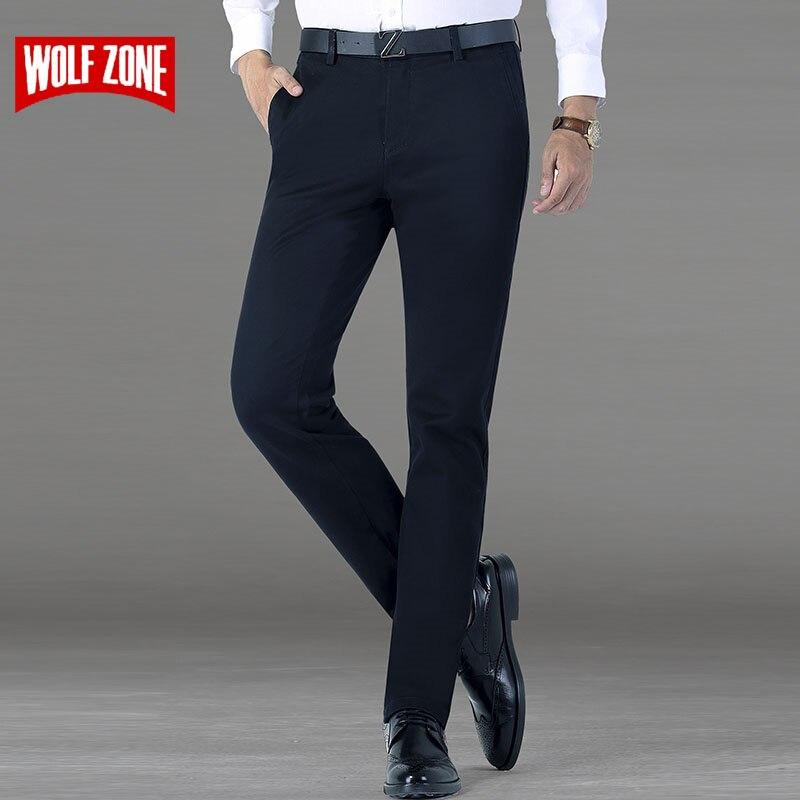 Новое поступление брендовая одежда повседневные штаны мужские классические деловые брюки мужские Slim Fit платье Зима Полная длина прямые узкие