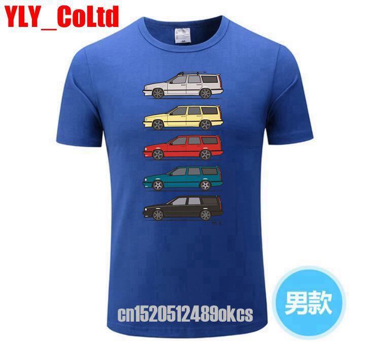 Summer Car Spring Turbo Wagons Men's   T     Shirt   Volvo 850 V70 T5   T     Shirt   Men Vintage Classic Vestidos Harajuku   Shirt   Kenka Top Tee