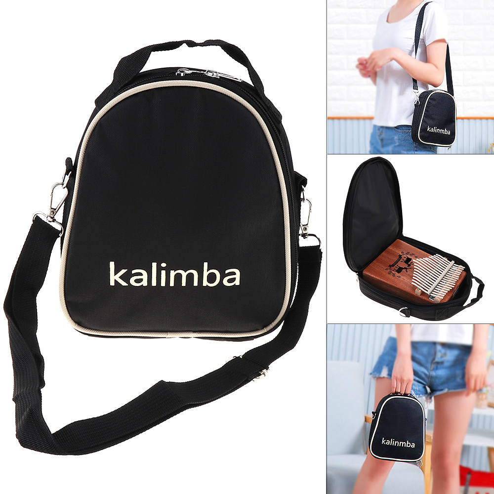 17 / 15 / 10 Key Universal  Storage Shoulder Portable Bag Thumb Piano Kalimba Mbira Soft Case Oxford Cloth Inside Cotton