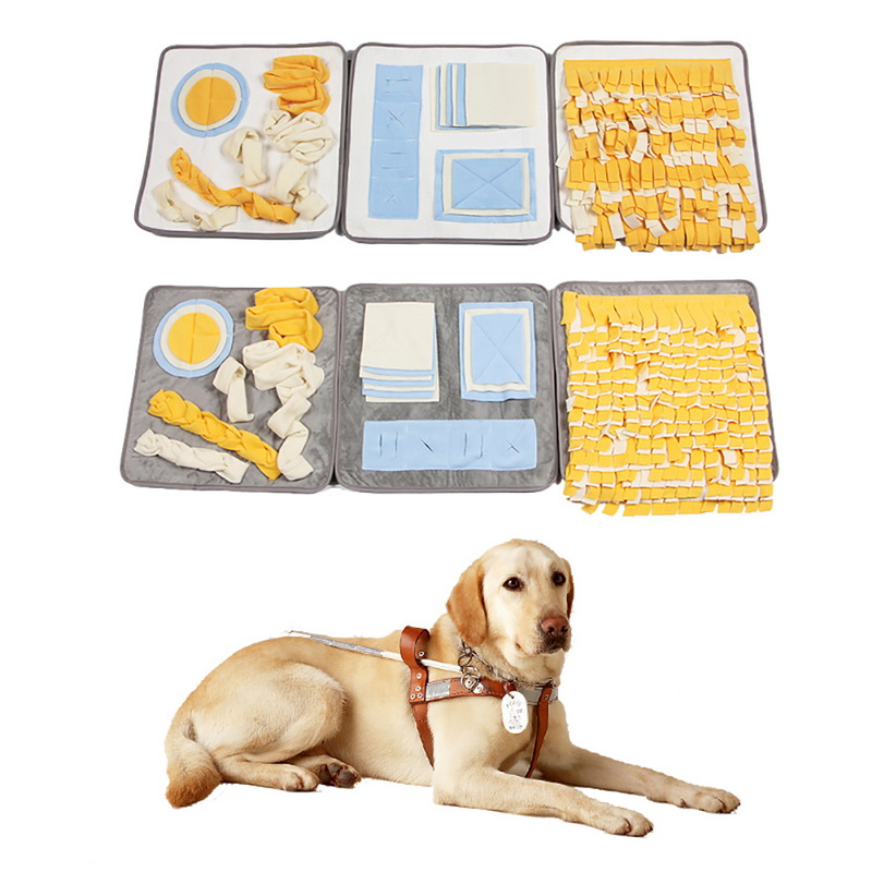 Hoomall Pet Dog Mats Training Game Fine Design Blanket Nose Training Dog House Pads Pet Sniffing Blanket Chewing Biting For Fun