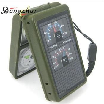 10 in 1 LED Military Camping Survival Compass Multifunction Outdoor black Whistle Compass Thermometer High Quality