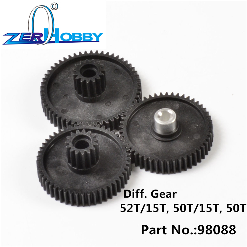 RC CAR SPARE PARTS DIFF. GEAR SET FOR HSP 1/8 4X4 ROCK CRAWLER (part no98088. 52T/15T, 50T/15T, 50T) hsp 02024 differential diff gear complete 38t for 1 10 rc model car spare parts fit buggy monster