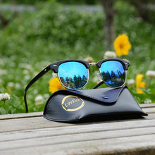 top quality fashion hot New half frame sunglasses women polarized Night vision sunglasses men Lady retro driving glasses
