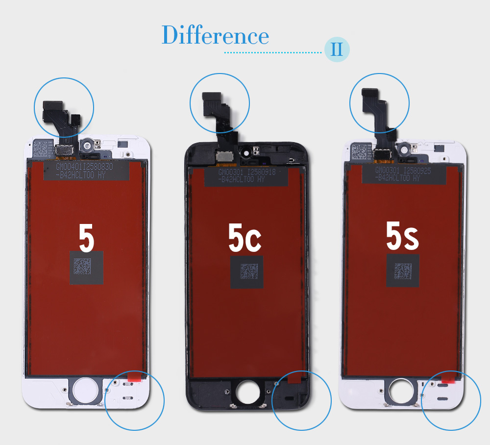 for iphone 5 5s SE 6 6s 7 lcd display with 2 gifts (3)