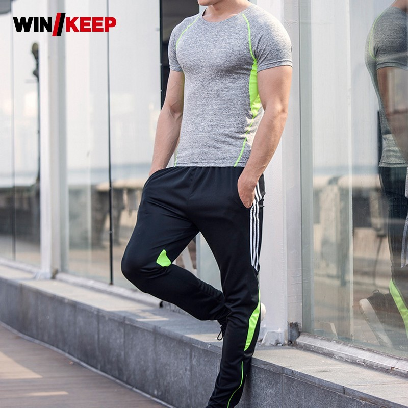 Men Summer Running Fitness Sportswear Suit Training Jogging Sweatshirt Full Length Sweatpants Sport Suits Male Tracksuit Set 4XL