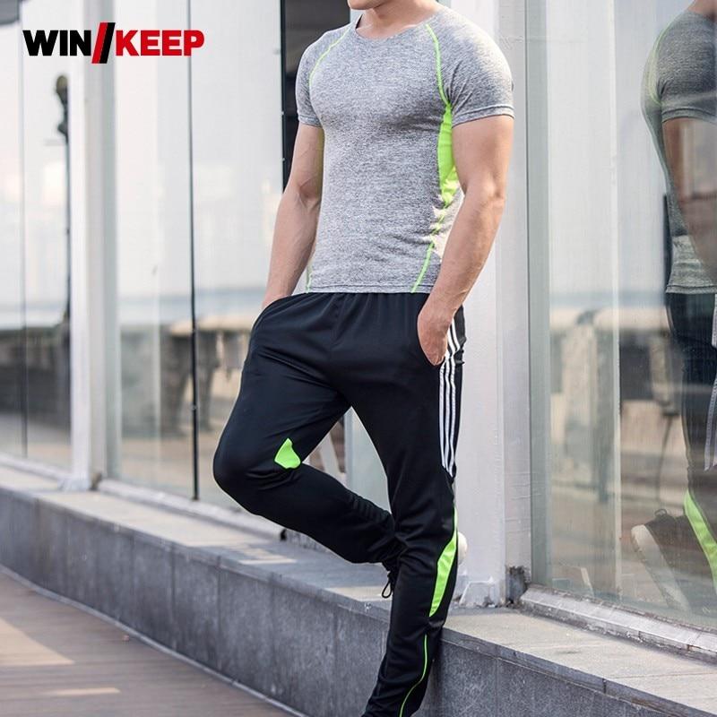 Men Summer Running Fitness Sportswear Suit Training Jogging Sweatshirt Full Length Sweatpants Sport Suits Male Tracksuit Set 4XL