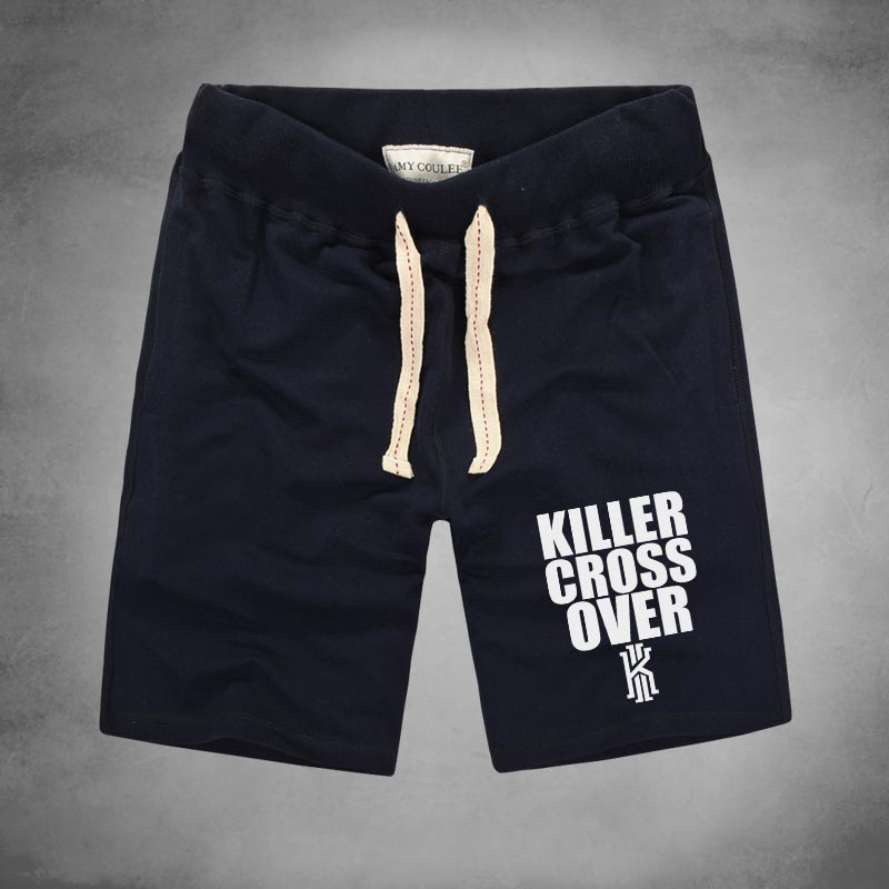 1 KILLER CROSS OVER Shorts New Trend Summer Style High Quality Elastic Waist Kyrie Irving Printed Men's Casual Home Clothing