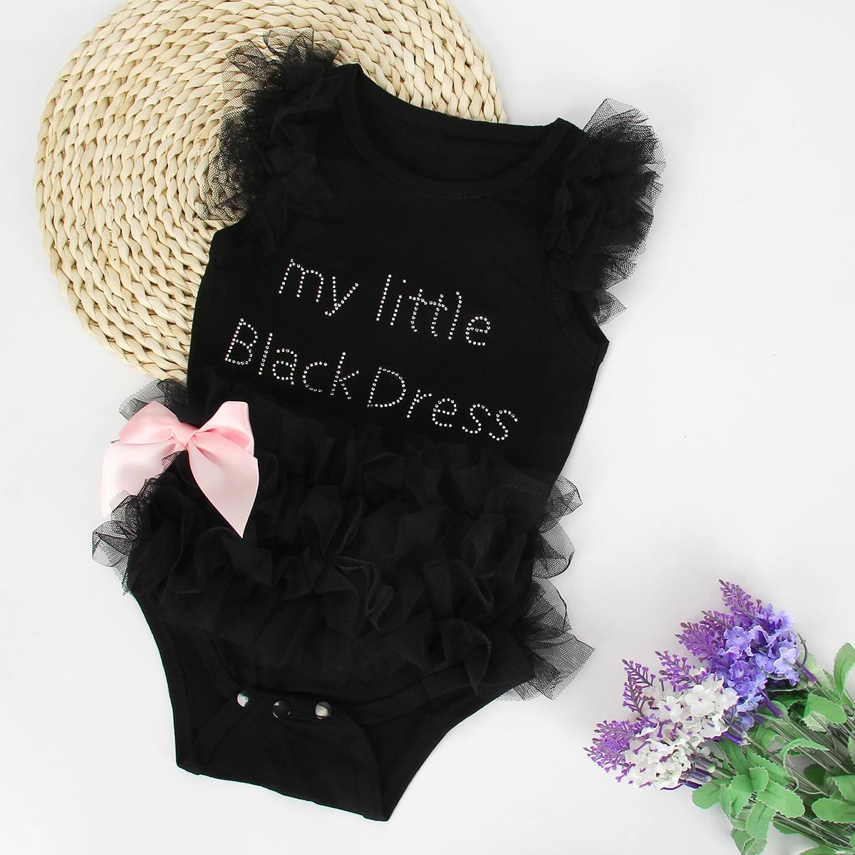 Black dress for baby girl - Little Black Dress Newborn Infant Kids Baby Girl Romper Jumpsuit Mesh Tutu Dress Romper Birthday Party