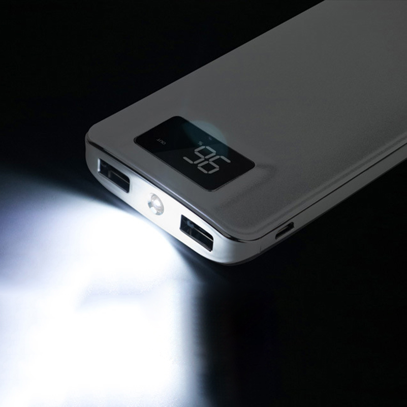 Slim 000 mAh Power Bank Portable Ultra-thin Polymer Powerbank battery power-bank With LED Light Fast Charger for Mobile Phone 7
