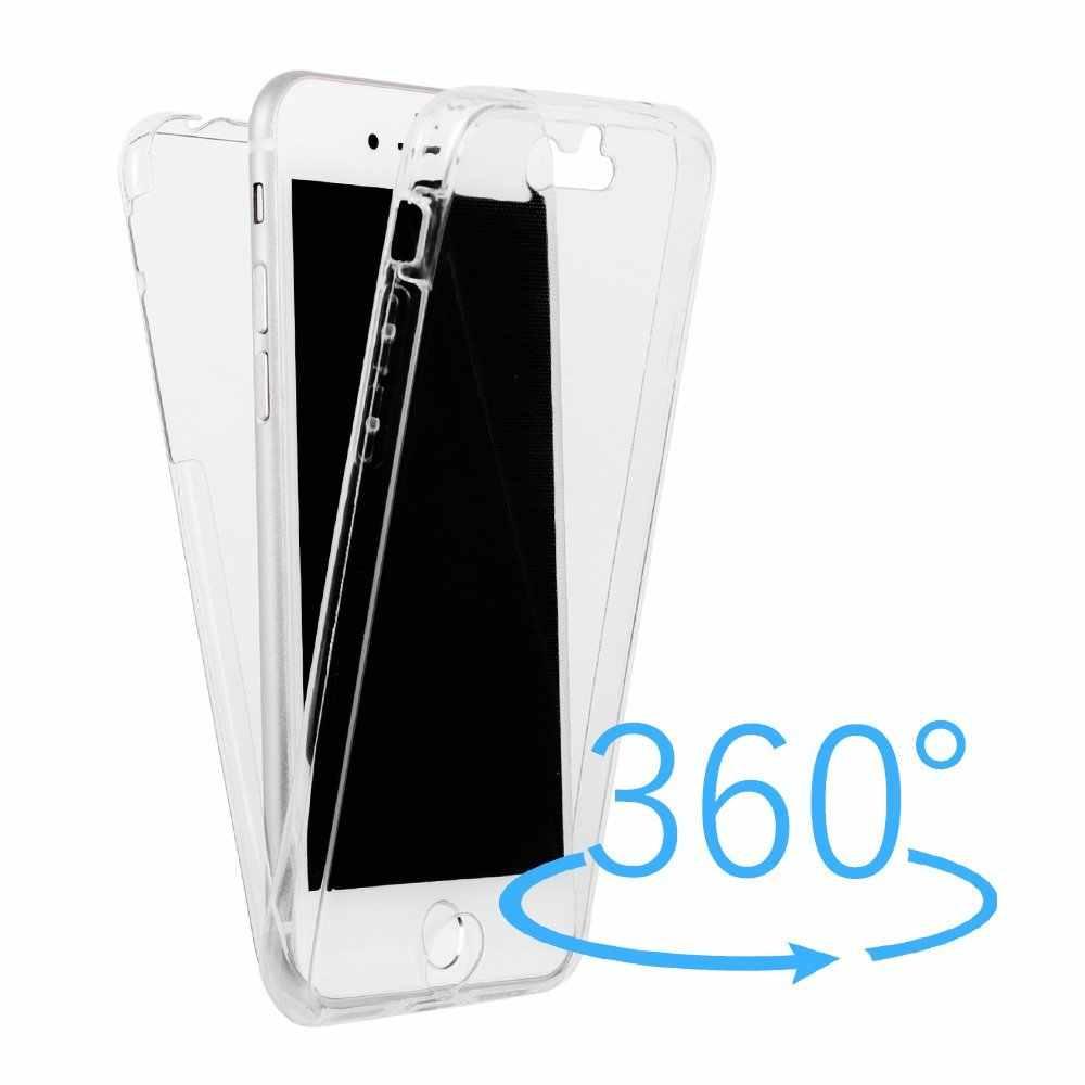 ברור לבן 360 תואר מלא גוף עמיד הלם TPU רך סיליקון Case כיסוי עבור Sony Xperia M4 M5 XA Z5 מיני X Z3 C5 C4 Z5 בתוספת Z5