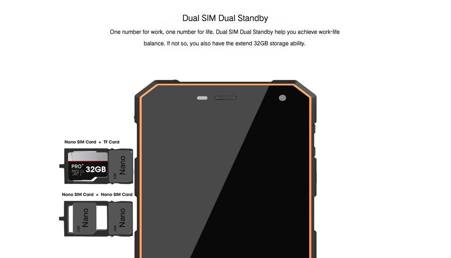"Nomu S10 IP68 Waterproof Shockproof 2GB RAM 16GB ROM 5.0""HD Quad Core MTK6737T Android 6.0 8.0MP 1280x720 5000mAh Smartphone"