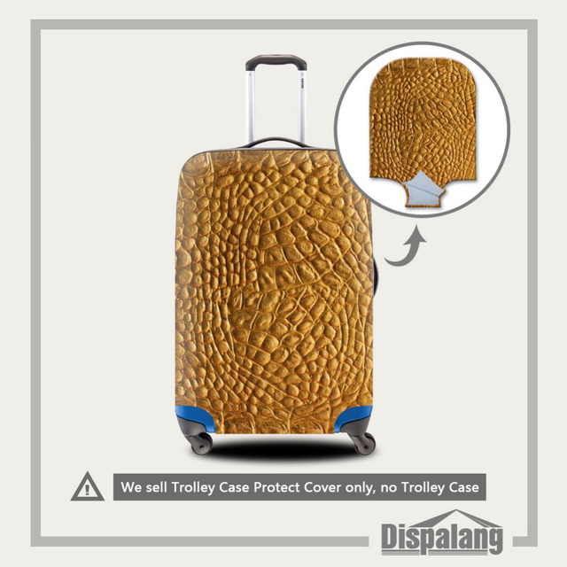 Snakeskin Printing Travel Luggage Protective Cover Thick Elastic Stretch Suitcase Protect Cover Apply To 18-30 Inch Trolley Case